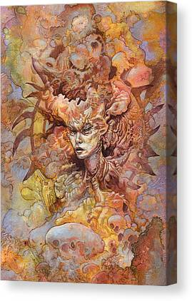 Jellyfish Mixed Media Canvas Prints