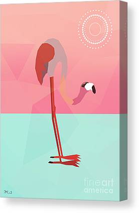 Flamingos Canvas Prints