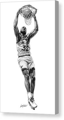Basketball Drawings Drawings Canvas Prints