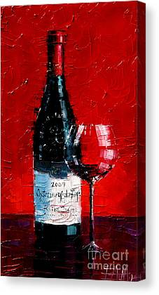 Wine Reflection Art Canvas Prints