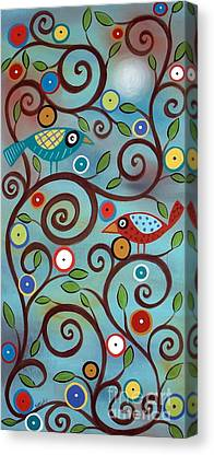 Contemporary And Colorful Abstracts Canvas Prints