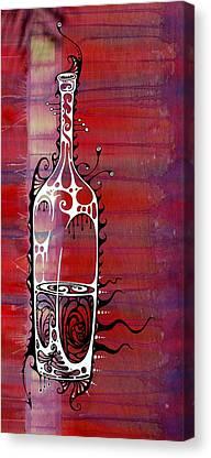 Bottle Paintings Canvas Prints