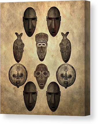 West Africa Mixed Media Canvas Prints