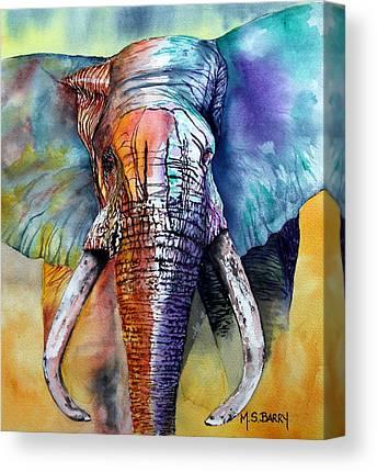 African Elephant Canvas Prints