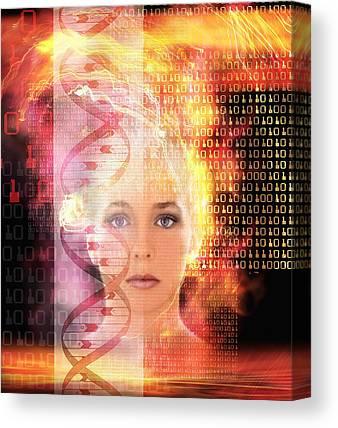 Genetic Information Canvas Prints