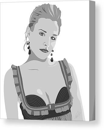 Kristen Bell Digital Art Canvas Prints