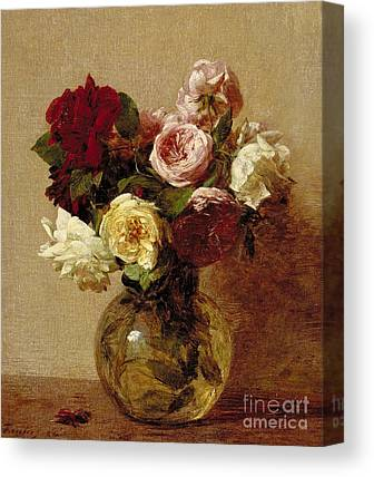 Floral Still Life Paintings Canvas Prints