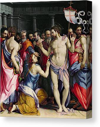 The Incredulity Of St. Thomas Canvas Prints