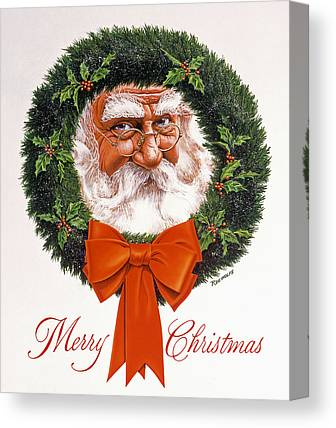 Santa Claus Canvas Prints