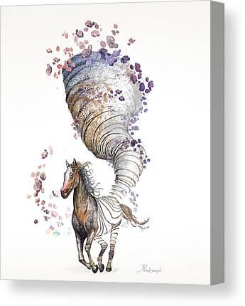 Pen Digital Art Canvas Prints