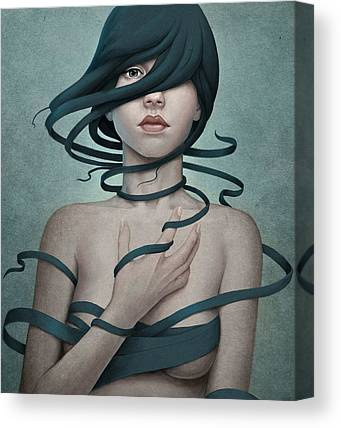 Girl Digital Art Canvas Prints