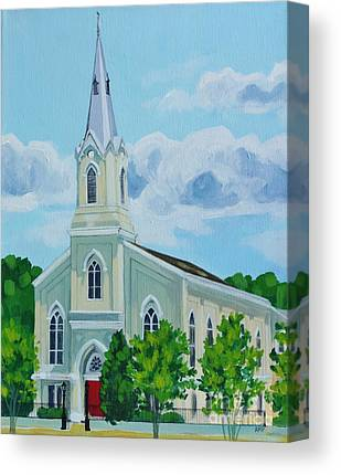 Fredericksburg Baptist Church Canvas Prints