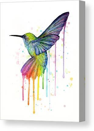 Beautiful Birds Watercolour art Painitng 100/% Canvas Print wall home Decor