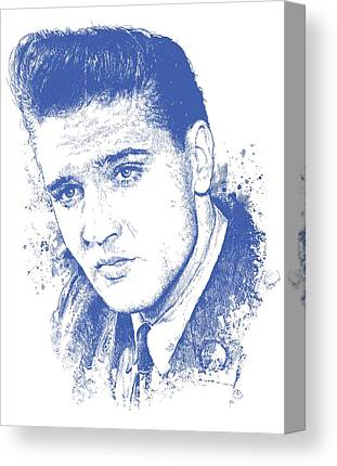 The King Elvis Presley Canvas Prints