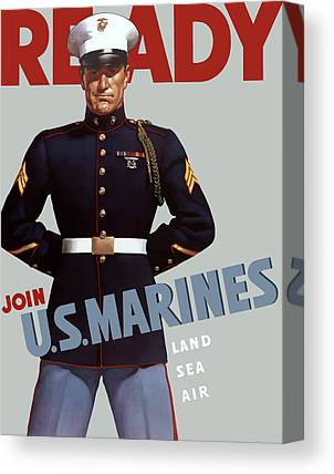 Vintage Military Canvas Prints