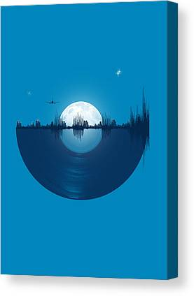Moon Digital Art Canvas Prints