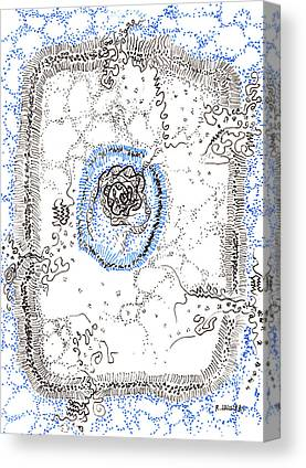Transmembrane Protein Paintings Canvas Prints