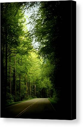 Smokey Mountain Drive Photographs Canvas Prints