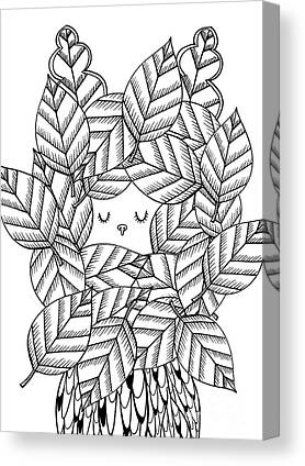 Simplistic Drawings Canvas Prints