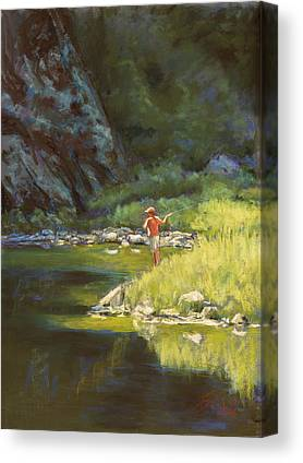 Colorado Fly Fishing On Canvas Prints