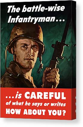 Infantryman Paintings Canvas Prints