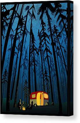 Camper Canvas Prints