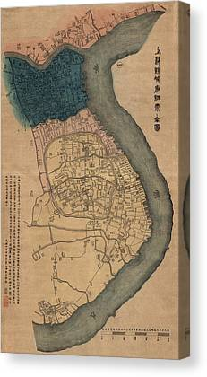Old Shanghai China Canvas Prints