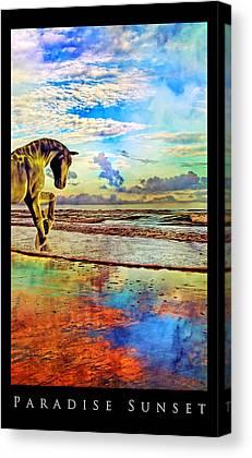 Mystic Setting Mixed Media Canvas Prints