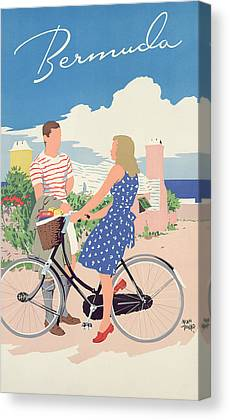 Bike Drawings Canvas Prints