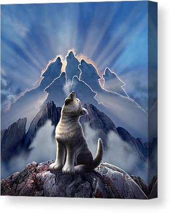 Canine Canvas Prints