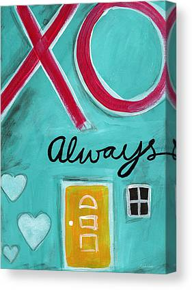 Hug Mixed Media Canvas Prints
