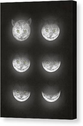 Waning Moon Canvas Prints