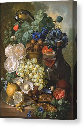 Still Life Of Wine And Grapes Paintings Canvas Prints
