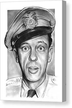 Andy Griffith Show Drawings Canvas Prints