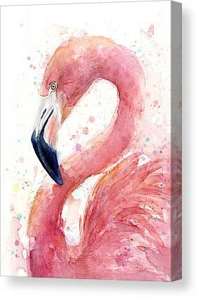 Pink Mixed Media Canvas Prints