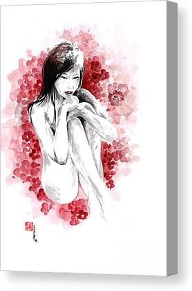 Cherry Blossoms Drawings Canvas Prints