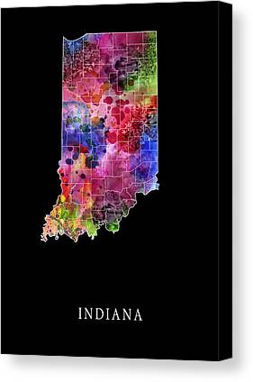 Evansville Digital Art Canvas Prints