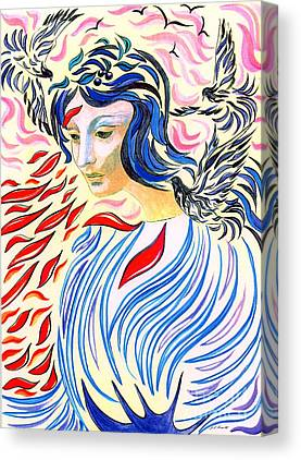 Spiritual Portrait Of Woman Paintings Canvas Prints