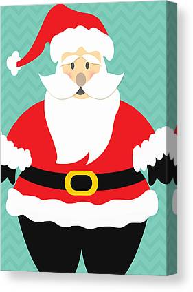 Santa Claus Mixed Media Canvas Prints