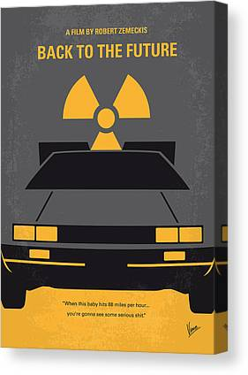 Delorean Art Canvas Prints