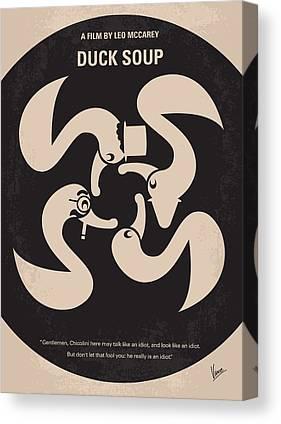 Groucho Marx Digital Art Canvas Prints