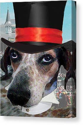 Dog Race Track Digital Art Canvas Prints