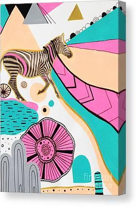 Fuschia Digital Art Canvas Prints