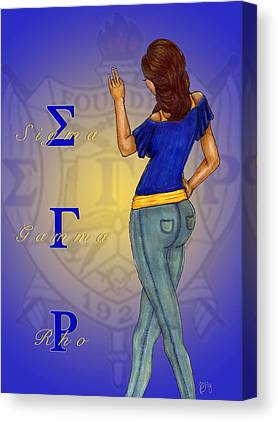 Sigma Gamma Rho Canvas Prints