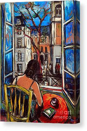 Woman At The Window Canvas Prints