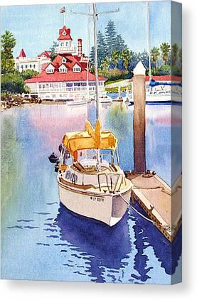 Yellow Sailboats Canvas Prints