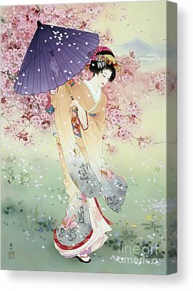 Japanese Umbrella Canvas Prints