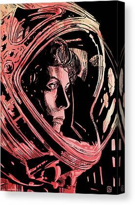 Alien Drawings Canvas Prints