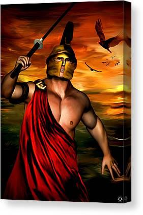 Warrior Goddess Digital Art Canvas Prints