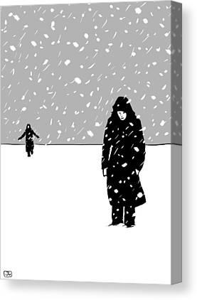 Winter Storm Digital Art Canvas Prints